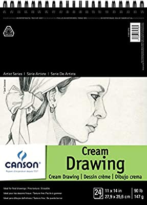 CANSON Artist Series Drawing Paper Pad, Side Wire Bound