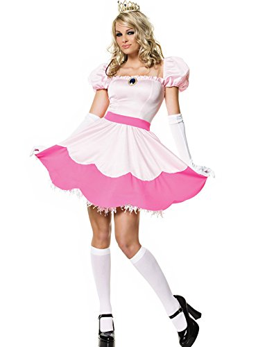 Minetom Femmes Cosplay Déguisements Princesse Costume Rose