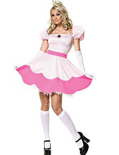 Minetom Femmes Cosplay Déguisements Princesse Costume Rose