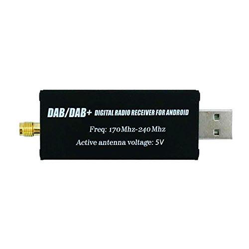 DAB DAB + USB Adattatore, XISEDO DAB Dongle in Macchina DAB Ricevitore Radio Digitale DAB USB 2.0 Stick con DAB Antenna Auto per Android Autoradio