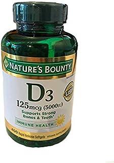 Nature's bounty 健康维生素 D3 5000 IU,快速释放 400 粒软胶囊
