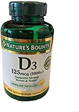 Nature's Bounty Immune Health Vitamin D3 5000 iu, Rapid Release 400 Softgels