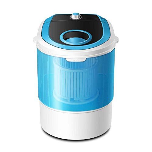 WYJW Lavadora pequeña, Lavadora portátil, Potencia de 250W, Carga de 2.5 kg, con Lavado de bañera Individual y Secadora, para Apartamentos, baño con balcón, dormitorios, Camping más, Azul