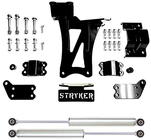 Dual Steering Stabilizer Kit made in the USA with USA Steel and CUSTOM ORDERED Bilstein Cylinders compatible w/ 2017-2020 Ford F250/F350 Super Duty 4WD Mfg by Stryker Off Road Design