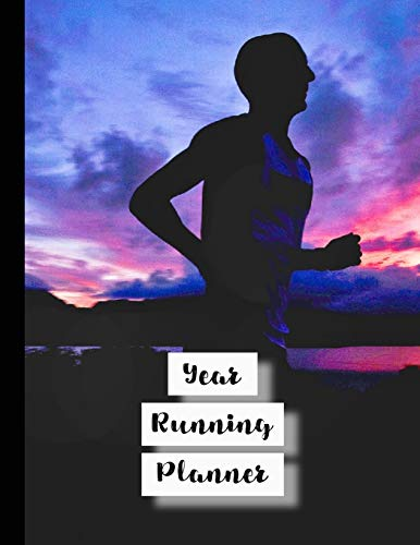 Year running planner: Runner planner diary for all your training logs - Purple sunset