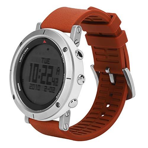 RiToEasysports wasserdichte Höhenmesser Uhr Barometer Wetter Schrittzähler Monitor Uhr für Trekking Camping Wandern
