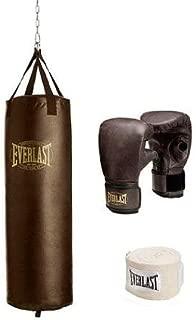 Everlast 100 lb Vintage Heavy Bag Kit