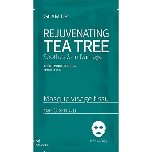 Sheet mask by glam up BTS Rejuvenating Tea Tree - Soothing, Calming Skin. Trouble Solution 1ea