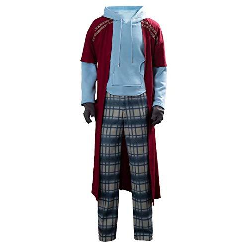 Fat Thor Halloween Cosplay Kostüm Erwachsene Männer Casual Hoodie Anzug mit Zubehör Outfit Full Set Party Game Anime Cos Kleidung Dicken Mantel
