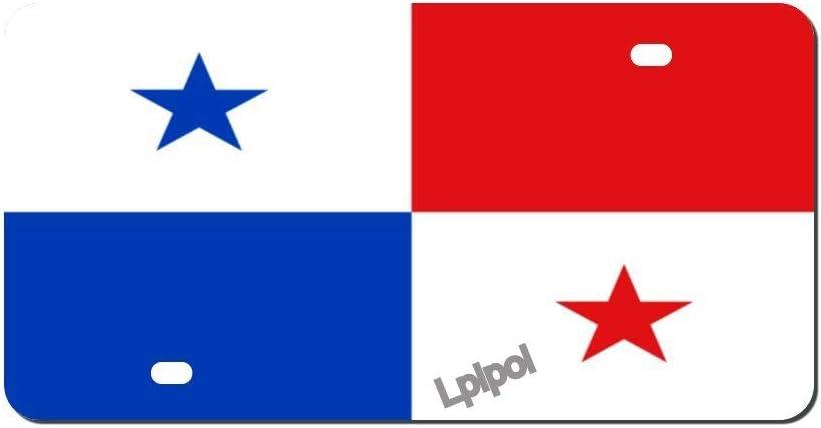 Lplpol Panamá National Flag Seasonal Wrap Introduction Industry No. 1 Auto Aluminum Fron License Plate