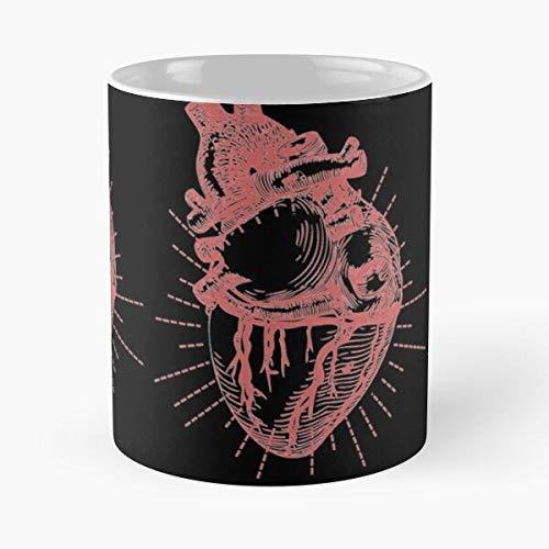 Hearth Red Science Gothic Black Monochrome Metallica Anatomy Best 11 oz Kaffeebecher - Nespresso Tassen Kaffee Motive
