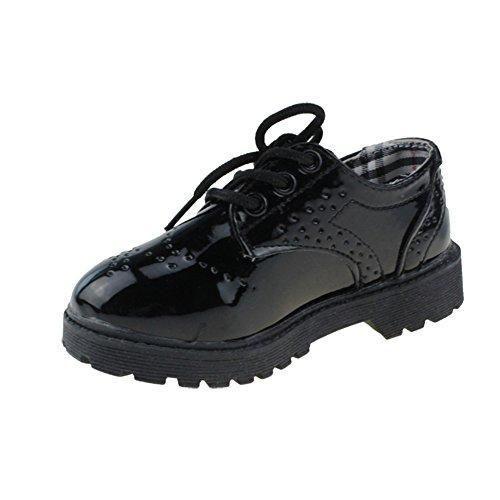 Chi×ima×u ボーイズシューズ レースアップ 男の子 フォマール靴 発表会 結婚式 ブラック 16.5CM