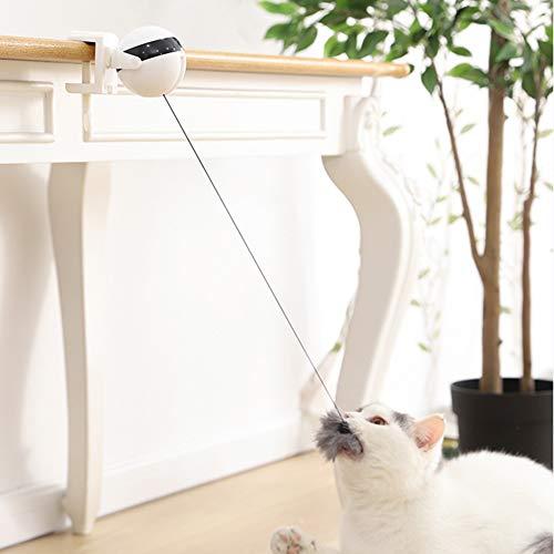 didatecar Katzenspielzeug, Elektrische Katze Spielzeug, Interaktives Spielzeug Für Katze, Intelligenzspielzeug Katzenspiel Drehen Feder Spielzeug 360° Drehung Federspielzeug