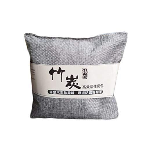 YONGYAO 1 Paquete de Carbón Activado de Carbón de Bambú Bolsa Desodorante Natural Ambientador Coche - Gris