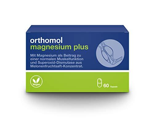 Orthomol Magnesium Plus 60er Kapseln - Magnesiumkapseln zur Nahrungsergänzung für Muskelfunktion & Superoxid Dismutase