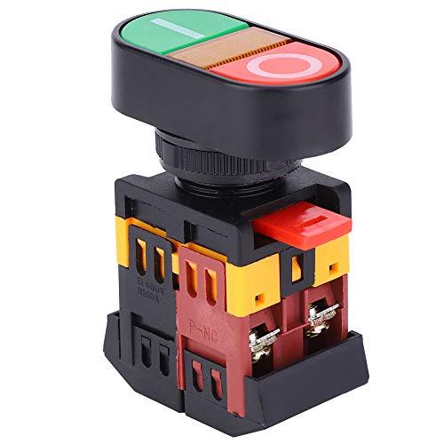 SANON Apbb-22 / 25N Doppelter Druckschalter mit Led-Licht No + Nc Momenttastenschalter