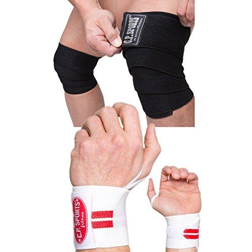 Bodybuilding bandages, fitnessbandage, krachtsport polsbange - verschillende kleuren en modellen! - Powerlifting, incl. kniebrace (T18 + T23).