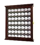DECOMIL - Vitrina para pelotas de golf con soporte de pared con protección UV con cerradura, 49 Golf Ball, Cereza