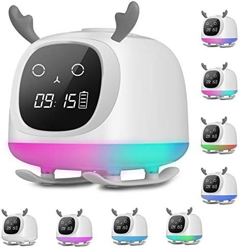 Kids Alarm Clocks Sendowtek Wake Up Light Bluetooth Speaker Table Lamp Alarm Clock Sleep Timer product image