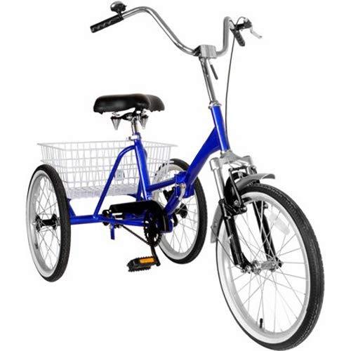 Areyourshop 3-Wheel Adult Tricycle Cruise Cargo Bike Trike with Basket