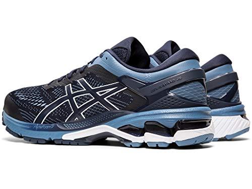ASICS Men's Gel-Kayano 26 (2E) Running Shoes, 10W, Midnight/Grey Floss 5