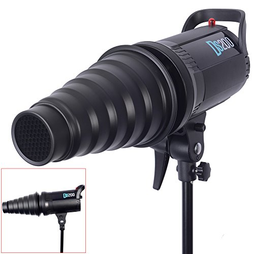 Neewer Metal Body Photo Conical Studio Snoot with Honeycomb Grid for Strobe Flash Speedlight Photography Light Modifier Ideal for Compact AC Moonlights Like Bowens