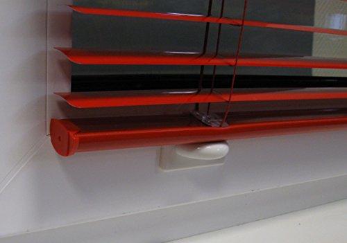ps QUICKFIX Magnethalter (2 Stück, weiß) – Klebemagnet für magnetische Jalousien-Unterleisten (Unterschienen) - selbstklebend als Pendelschutz bei Kippfenstern
