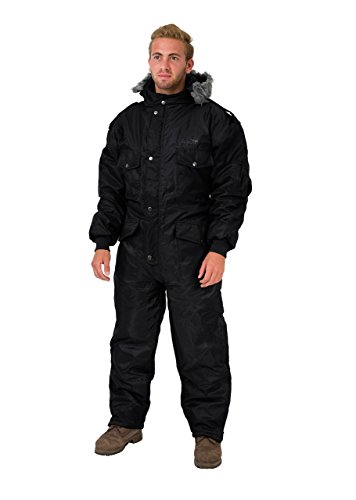 Black IDF Snowsuit Winter Clothing Snow Ski Suit Coverall Insulated Suit (M)