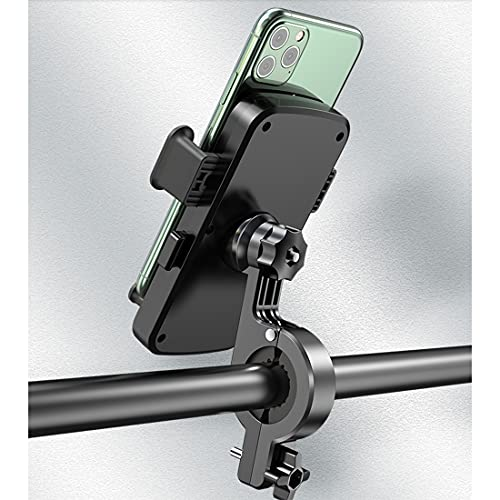 """Bike Phone Mount, Motorcycle Phone Mount, [360° Rotation] [Anti-Shake] Cell Phone Holder for Bicycle Handlebar Fits for iPhone, Samsung, Note and More 4.7""""-6.8"""" Cellphone, Black"""