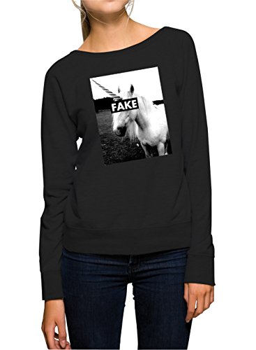 Fake Unicorn Sweater Girls Black Certified Freak-XL