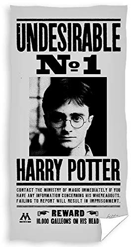 Jerry Fabrics Harry Potter – Toalla de playa – Harry Potter – Have You seen This Wizard – Undiserable No. 1 – 140 x 70 cm