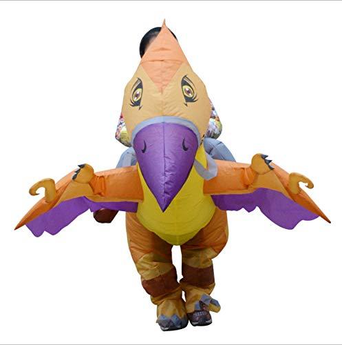 WSSMSY Paseo pterodctilo Traje Inflable Traje de Baile nios Dinosaurio Disfraz de Carnaval de Halloween