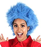Dr. Seuss Thing 1 & Thing 2 Blue Fuzzy Costume Wig For Women & Men