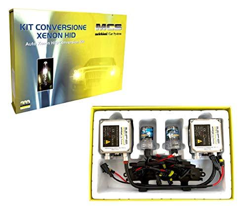 Melchioni 353000009 Xenon Umrüstsatz HB5-3 HID 12 V 6000 K Lampen + Steuergerät für Fernlicht oder Abblendlicht