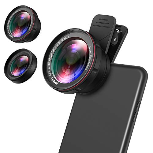 (Upgraded) for iPhone Lens Kit, 0.45X Wide Angle Lens, 15X Macro Lens for...