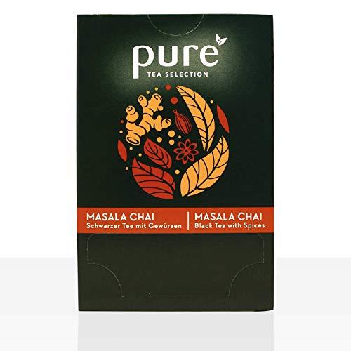 Pure Tea Selection Masala Chai | Schwarzer Tee | 100% natürliche Aromen | 25 Teebeutel aus Maisstärke gewebt und industriell kompostierbar | 25 x 2,5g