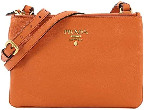 Prada Orange Vitello Phenix Bandoliera Leather Crossbody Handbag 1BH046 product image