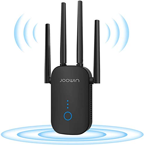 WiFi Range Extender - 1200Mbps WiFi Repeater Wireless Signal Booster, 2.4 & 5GHz Dual Band WiFi Extender with External Antennas, Simple Setup