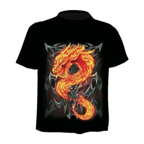 N\P Camiseta de diseño para hombre/mujer Heavy Metal Grim Reaper Skull D Impreso camisetas