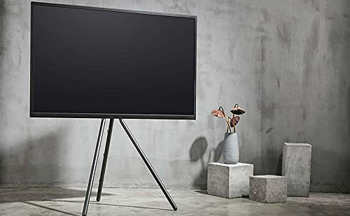 FOREST Staffelei Stativ kompakt & tragbar künstlerische Black Steel Studio / Home TV Bodenständer für TV / LCD von 49