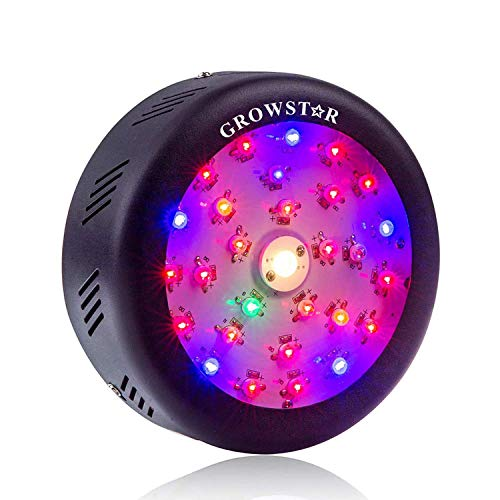 UFO Led Grow Light, Growstar 150W Full Spectrum Plant Light with High Par Value...