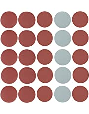 FTVOGUE Sandpaper,25pcs 5 pulgadas Mix Grit Sander Disc Lijado Pulido Papel Abrasivo Juego Papel Lija para Lijar Desbastado 800 1000 1500 2000 3000