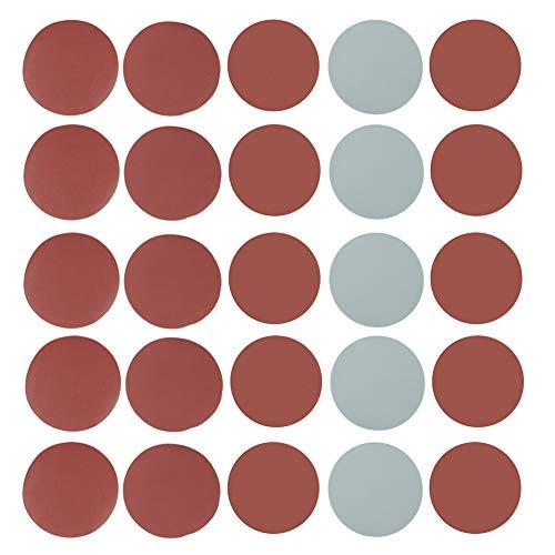 Schleifpapier 25stk Schleifscheiben 125mm Polierpapier Pads Schleifpapier-Set P800 P1000 P1500 P2000 P3000