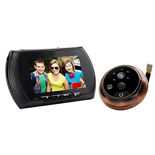 VBestlife Digitale deurspion, 4,3 inch TFT LCD-scherm, deurbel, Viewer camera, deurbel met nachtzicht, groothoeklens, video-opnames voor 40 tot 110 mm dikke deuren