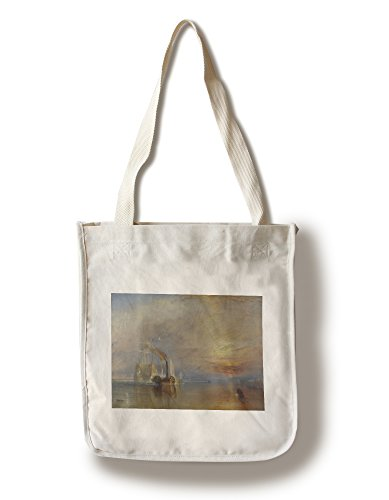 The Fighting Temeraire - Masterpiece Classic - Artist: J.M.W. Turner c. 1839 (100% Cotton Tote Bag - Reusable)