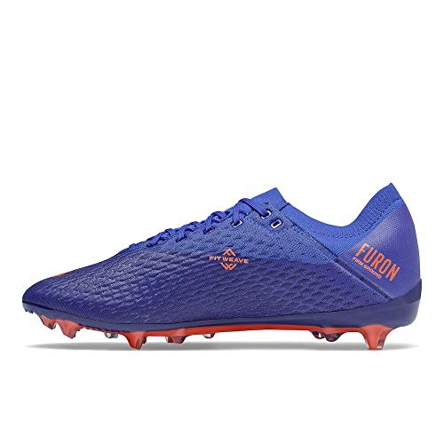 New Balance Men's Furon Destroy Firm Ground V6 Soccer Shoe, Cobalt/Dynomite, 9 Wide
