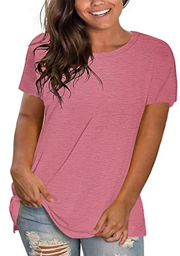 Camisetas Lisas De Talla Grande para Mujer De Entrenamiento De Verano Deportivas...