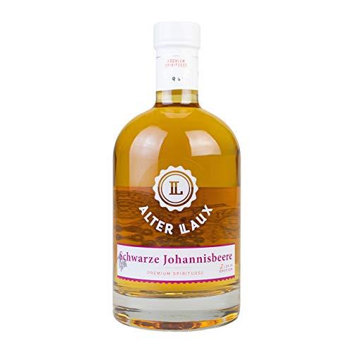 Alter LAUX Schwarze Johannisbeere Spirituose 40%, Milder Johannisbeer Schnaps Obstbrand, 500ml