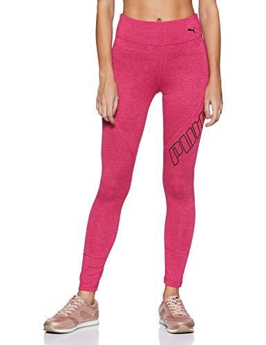 PUMA Damen Yogini Logo 7/8 Tight Leggings, Fuchsia Purple Heather, M