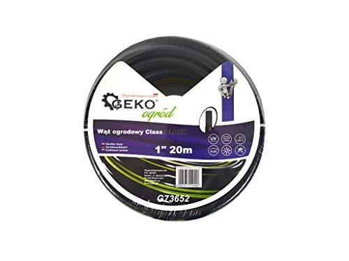 Geko g73652 tuinslang klasse 2,5 cm 20 m, zwart